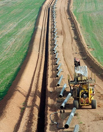 Pipeline contractor invoice factoring and accounts-receivable financing