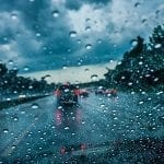 freight trends, driving a truck in the rain